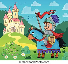 Knight on horse theme image 4