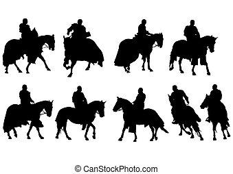 Knight on horseback ten