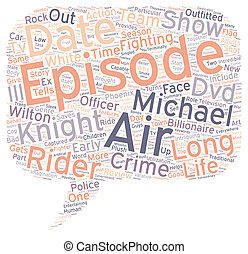 Knight Rider DVD Review text background wordcloud concept