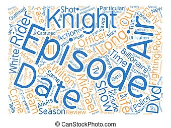 Knight Rider DVD Review Word Cloud Concept Text Background