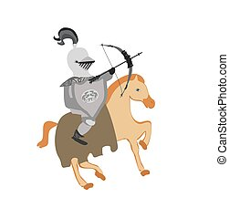 Knight riding on a horse