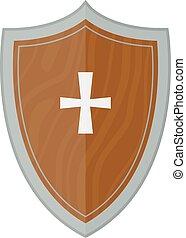 Knight shield vector illustration.