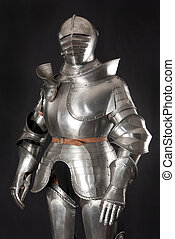 knight - Armour of the medieval knight. Metal protection of...