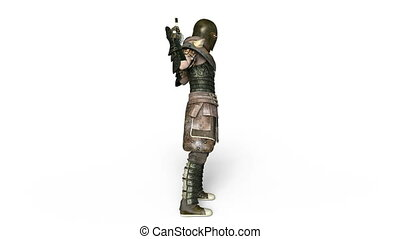 Knight - 3D CG rendering of a knight