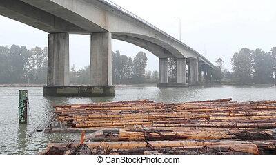 Knight Street Bridge and lumber.