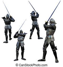 Knight Swordsman in Full armour - Knight Swordsman in Full...
