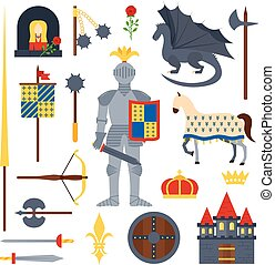 knight symbols vector illustration.