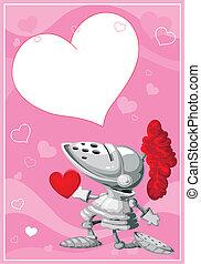 knight valentines card