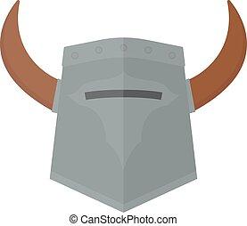 Knight viking helmet vector illustration.