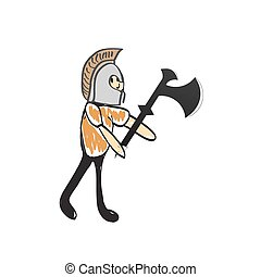 knight with a sword and helmet illustration