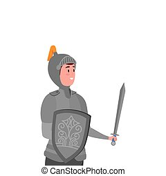 knight with armor of fairytale avatar character