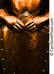Knight - with brown color - Armour of the medieval knight -...