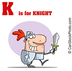 Knight With K Is For Knight Text