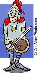 knight with sword cartoon illustration - Cartoon ...
