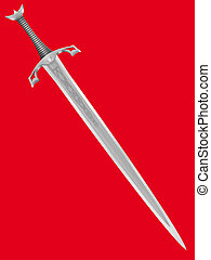 knightly, ancien, épée