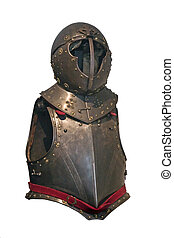 Knight\'s armor isolated on white