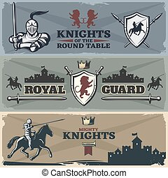 Knights Banners Set