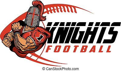 knights football team design with ball and mascot for...
