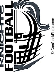 knights football team design with helmet and facemask for ...