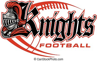 knights football team design with helmet and laces for ...