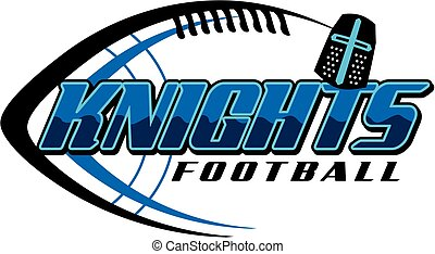 knights football team design with helmet and ball for...
