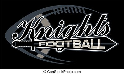 knights football team design with ball and sword for...