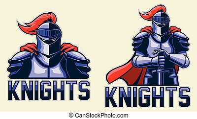Knights - Multi Colors Illustration Of Knights