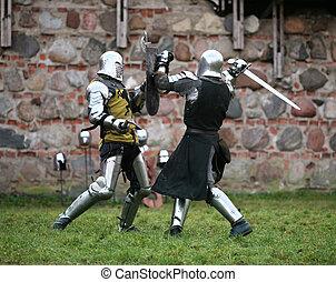Knights - Struggle medieval knights. Show in Kaunas