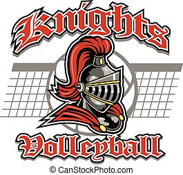 knights volleyball design