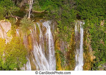 knin, cascada, krka, parque nacional, parque, park.,...