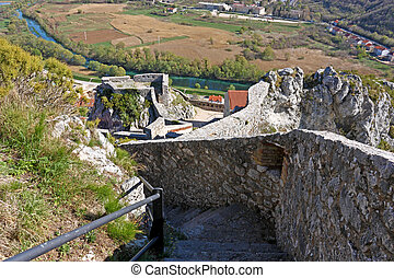 Knin fortress, Croatia - Part of the fortress of Knin,...