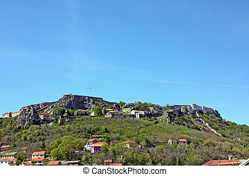 Fortress of Knin, second largest military fortification in the Europe, city of Knin, Croatia