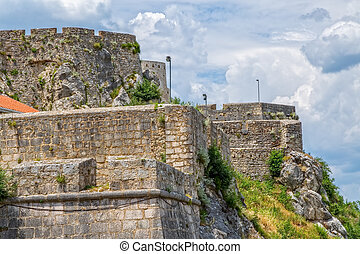 Part of the fortress of Knin, second largest military fortification in the Europe.