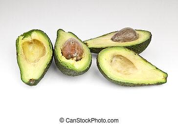knippen, avocado, fruit