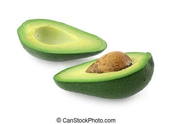knippen, avocado, helft
