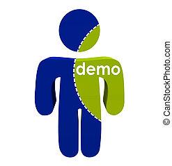 knippen, dotted, demo, lijnen, onderzoek, persoon, groepen, segment, markt, bevolking