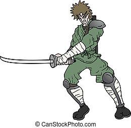 knippen, zwaard
