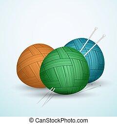 Knit balls of yarn