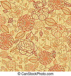 Knit embroidery flowers seamless pattern background - Vector...