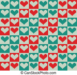 Knit pattern - Seamless knit pattern with hearts