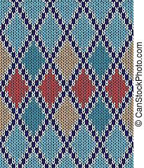 Knit Seamless Jacquard Background