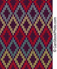 Knit seamless jacquard ornament - Knit woolen seamless...