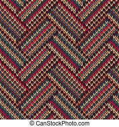 Knit seamless jacquard texture