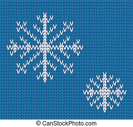 Knit seamless pattern with snowflakes. wool background. vector. Winter theme. Easy to relocate snowflakes.