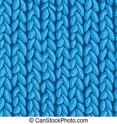 Knit sewater fabric seamless pattern texture - vector knit...