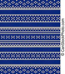 Knit vector seamless blue texture - Knit texture. Fabric...