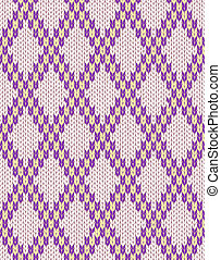 Knit woolen seamless ornament