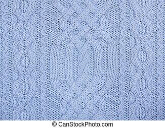 Knit woolen texture