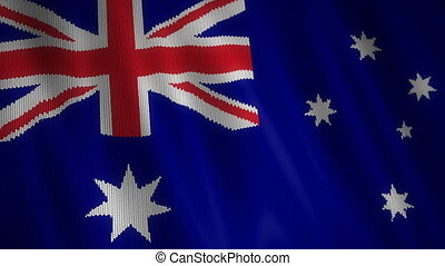 Knitted Australian Flag. - Beautiful animation of knitted...