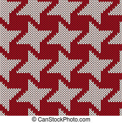 Knitted background with geometric figure seamless